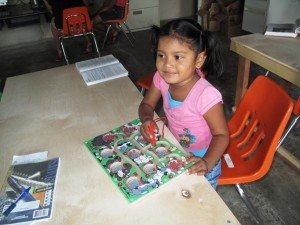 These children are taking advantage of some of the tools that we are sending to support preschool programs already established in Belize and soon to be established in Jamaica.