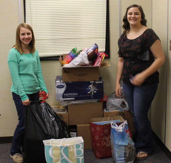 Shown are some of the items collected by the Edison High School Interact Club last spring.  We need continued support from Interact Clubs to meet our goals.