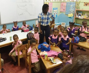 Preschools in Jamaica conduct traditional learning classes.  Prior to entering Primary school all preschool age children are tested to evaluate their strong points and areas they may need help.  Yes, they are adorable!