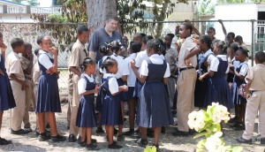 Whenever the team visited a school, Kent became our Ambassador of Goodwill as all the children naturally flocked to him.