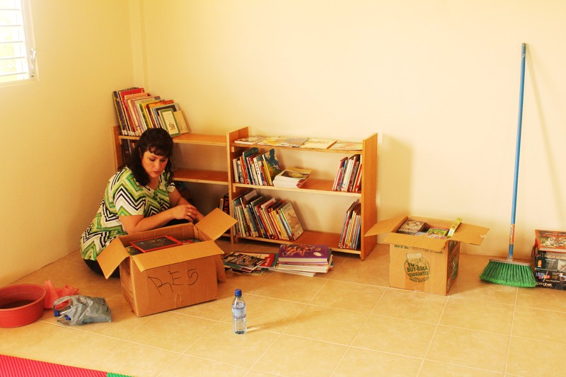 Team member Stacey Iler then sorted the books.