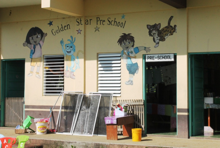 One of the four schools we placed resource centers in today.