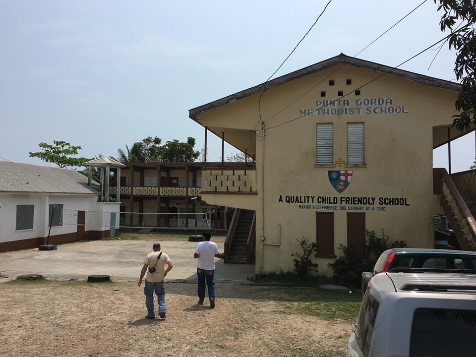 Once again at the Methodist school, no children's books...: then we remembered that one truck took off with books for three schools. Everything was separated by school but I guess that was not good enough. Luckily we had extra boxes of books, so problem solved.