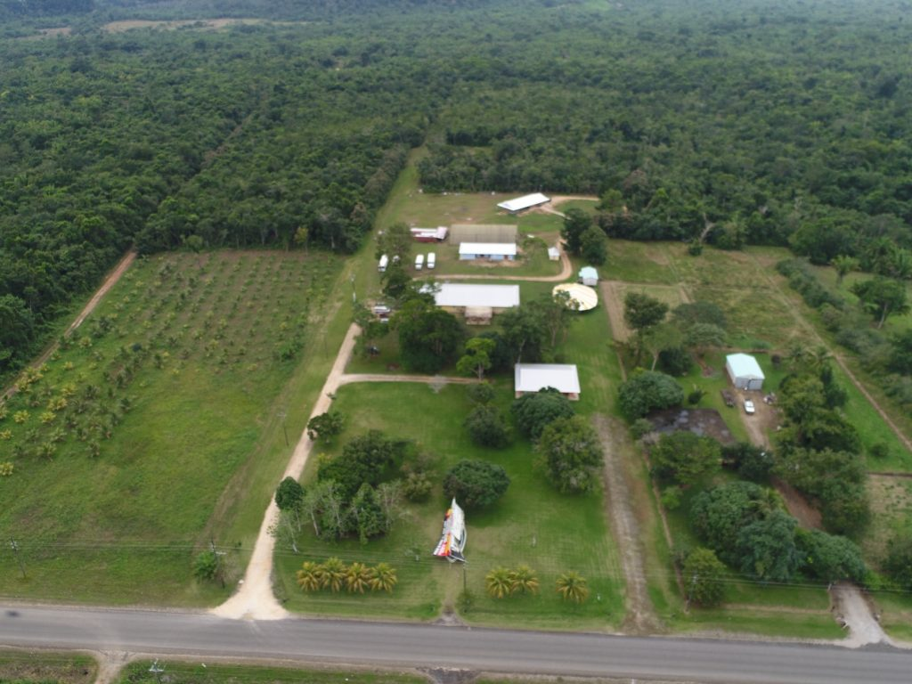 An overhead look of the Belize Training Center, our center of operations.