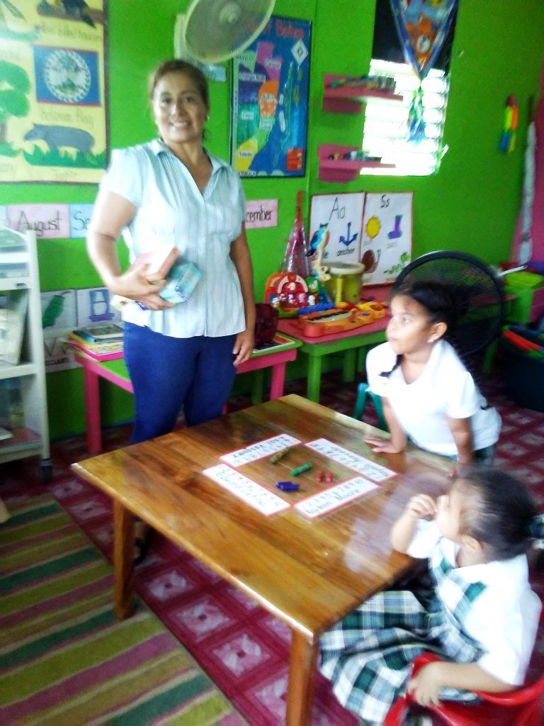After distribution the Mission Team visited each school. This is Elcedia Awe's 3rd Mission and is our 'social butterfly' as she knows everyone and is a great asset in helping the pre-school teachers integrating their product into the classroom curriculum.