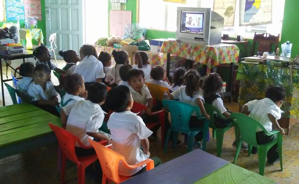 The televisions are a big hit. Although it varied greatly from school to school… the average child did not have a television at home. What was rewarding is that the teachers understood that the television can be used as a learning tool, not just entertainment.